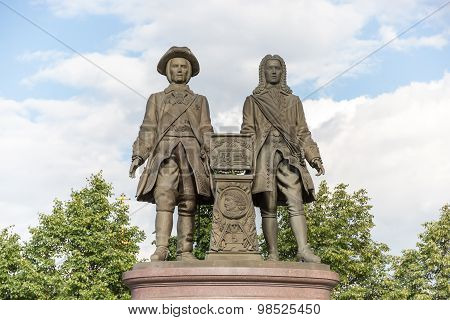 Monument To V.tatishchev And W. De Gennin