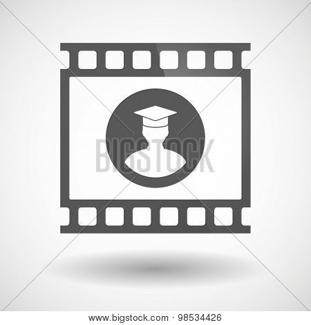 Photographic Film Icon With A Student