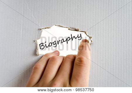 Biography Text Concept