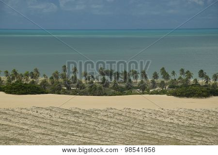 Crystalline sea beach in NatalBrazil