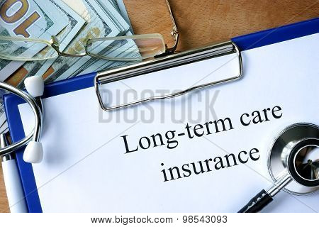Long-term care insurance form.