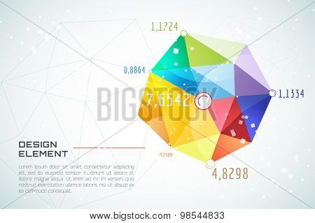 Abstract background vector technology wallpaper. Triangle, color lines, pattern and geometric art. Stock vectors illustration