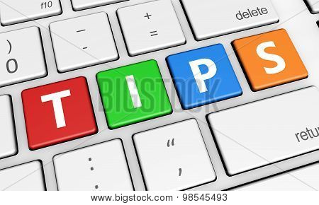 Tips Sign On Keyboard
