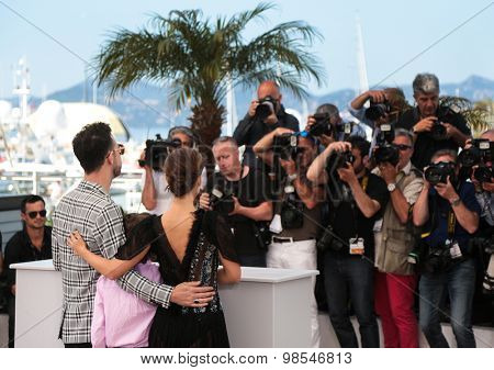 Gilad Kahana, Amir Tessler, Natalie Portman attend the 'A Tale Of Love And Darkness' Photocall during the 68th annual Cannes Film Festival on May 17, 2015 in Cannes, France.