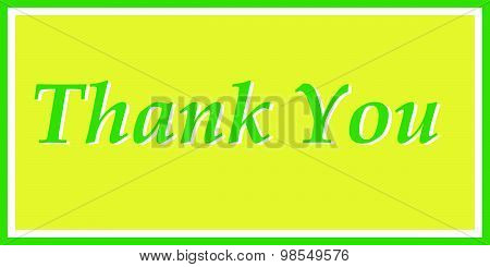 Thank You in Green and Yellow