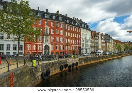 Picturesque Shores Of Channels In City Copenhagen, Denmark