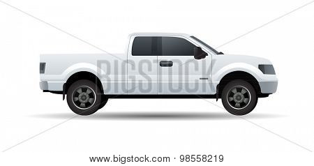 Pickup truck vector illustration