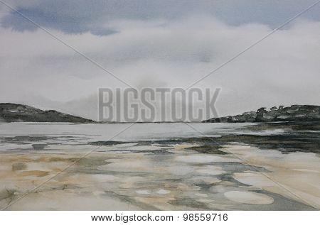 Beach landscape, Sedgefield, Western Cape, South Africa.