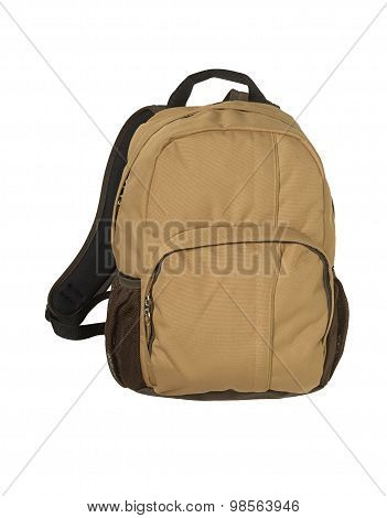 backpack on the white background