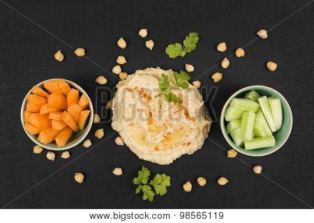 Delicious Hummus Background.