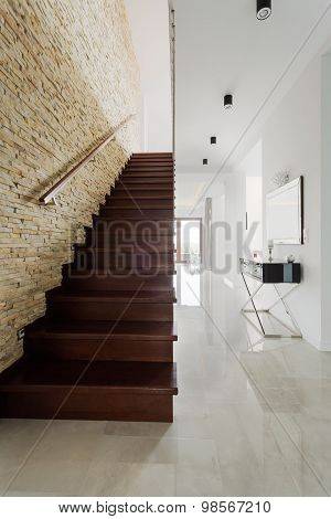House With Wooden Stairs