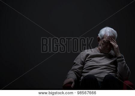 Despairing Senior Man