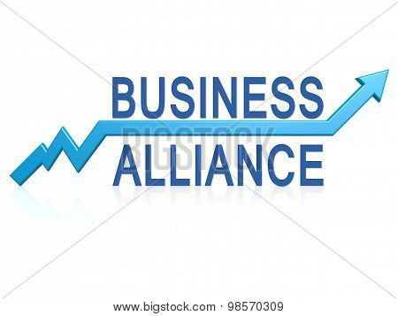 Business Alliance With Blue Arrow