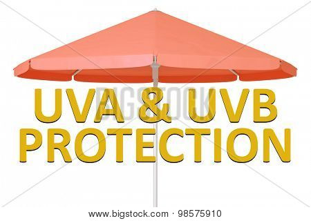 An image of a uva and uvb protection umbrella
