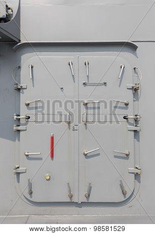 Warship - security door