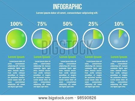 Infographic with diagrams and percent