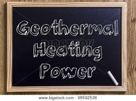 Geothermal Heating Power