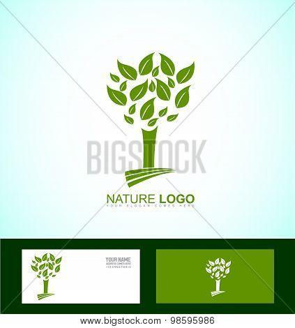 Nature Tree Bio Eco Logo