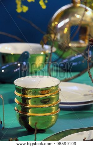 Fine restaurant dinner table setting