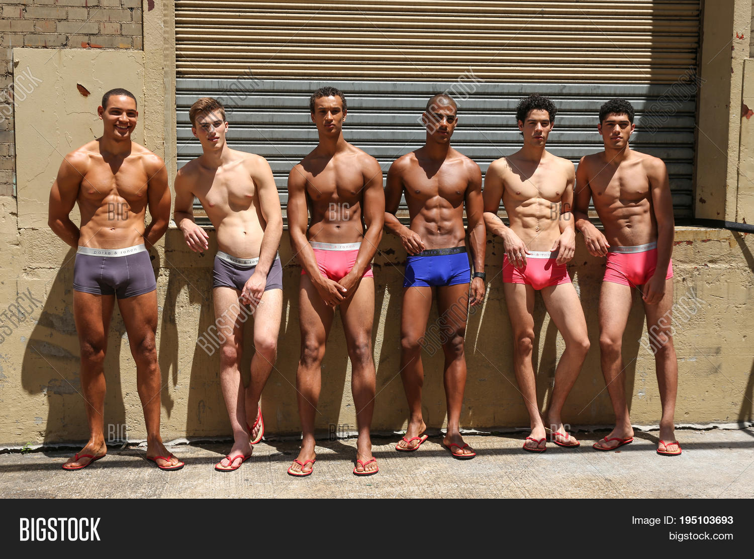 f2d00303d9c4 NEW YORK NY - July 12 2017  Models pose backstage before the Parke   Ronen  Show during New York Fashion Week Men s S S 2018