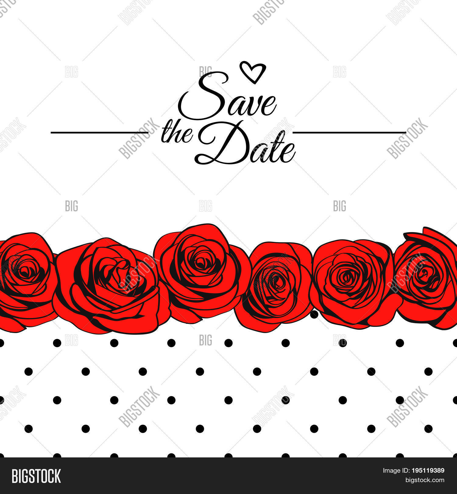 Save Date Card Vector & Photo (Free Trial) | Bigstock
