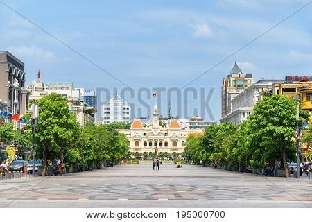 View Of Ho Chi Minh Square In Vietnam