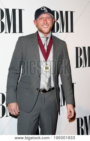 NASHVILLE, TN-NOV 3: Recording artist Cole Swindell attends the 63rd annual BMI Country awards at BMI on November 3, 2015 in Nashville, Tennessee.
