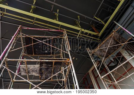 Scaffold Inside Construction Site Building