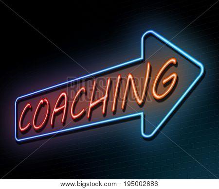 Neon Coaching Concept.