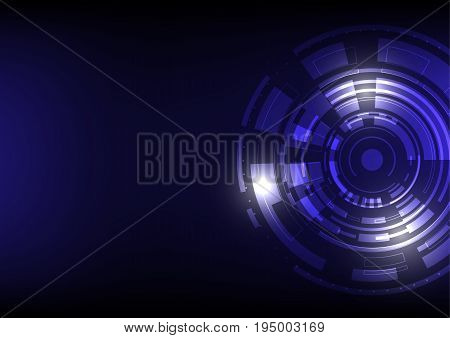 Abstract futuristic digital technology structure pattern technology backdrop dark blue pattern using as high technology background.