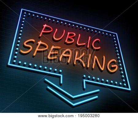 Public Speaking Concept.