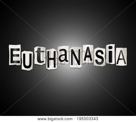 Euthanasia Word Concept.