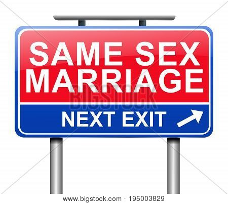 Same Sex Marriage Concept.