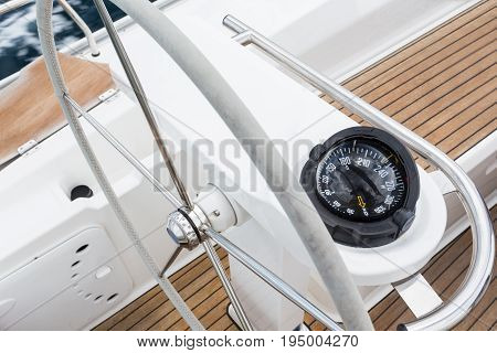 Rudder And Yacht Compass