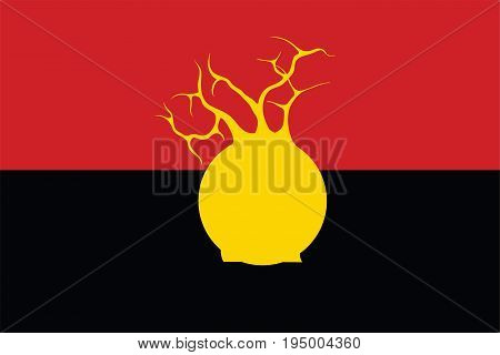 Vector aboriginal flag design with baobab tree.
