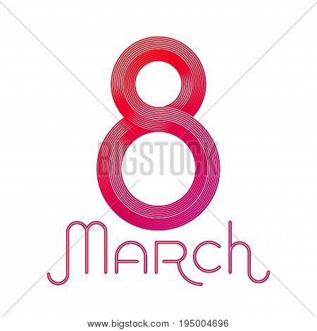 8 March, International Women's Day, Vector Illustration of the 8