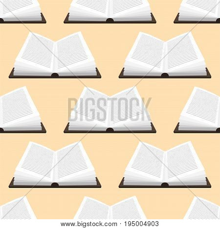 Colorful book vector illustration learn literature study seamless pattern education knowledge document textbook. Learning page university text reading encyclopedia.