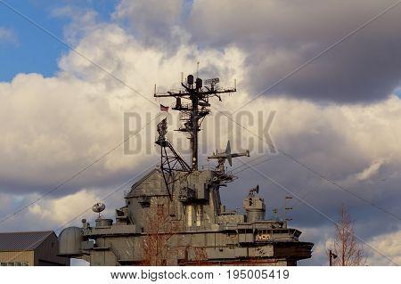 New York, NY - July, 10: On Board the USS Oak Hill Navy Battleship during Fleet Week
