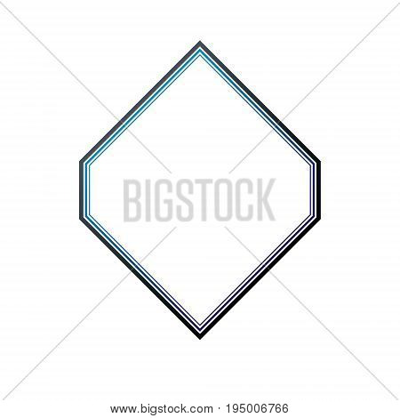 Award vintage rhomb frame with clear copy space made as art medallion design. Vector retro style label heraldry retro emblem isolated on white background.