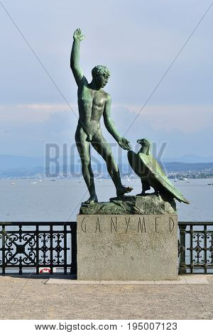 Ganymed Statue In Zurich Switzerland