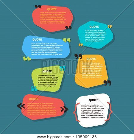 set of Creative Quote bubble template. Quote bubble layout for web and print.