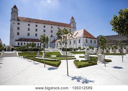View at the Bratislava Castle in Slovakia