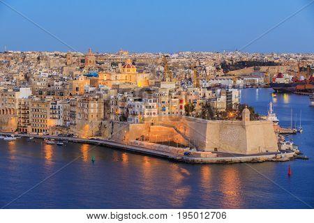 View to Great Harbor from Upper Barrakka Gardens, Valetta, Malta