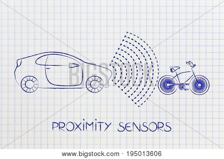 Vehicle With Sensors Detecting Proximity With Bike