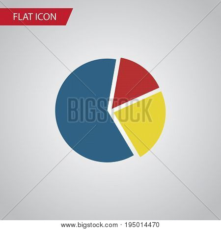 Isolated Pie Bar Flat Icon. Graph Vector Element Can Be Used For Graph, Pie, Bar Design Concept.
