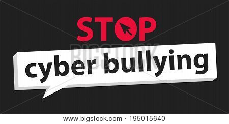 stop cyber bullying   background graphic vector illustrations