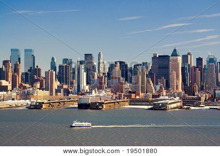 Mid-Town Manhattan and Hudson River