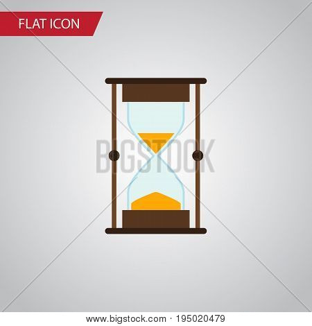 Isolated Sandglass Flat Icon. Measurement Vector Element Can Be Used For Hourglass, Sandglass, Timer Design Concept.