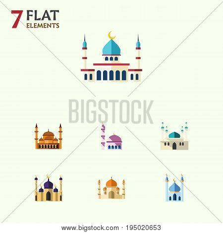 Flat Icon Mosque Set Of Building, Mosque, Architecture And Other Vector Objects. Also Includes Building, Mosque, Religion Elements.