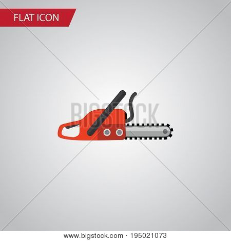 Isolated Saw Flat Icon. Hacksaw Vector Element Can Be Used For Hacksaw, Saw, Blade Design Concept.